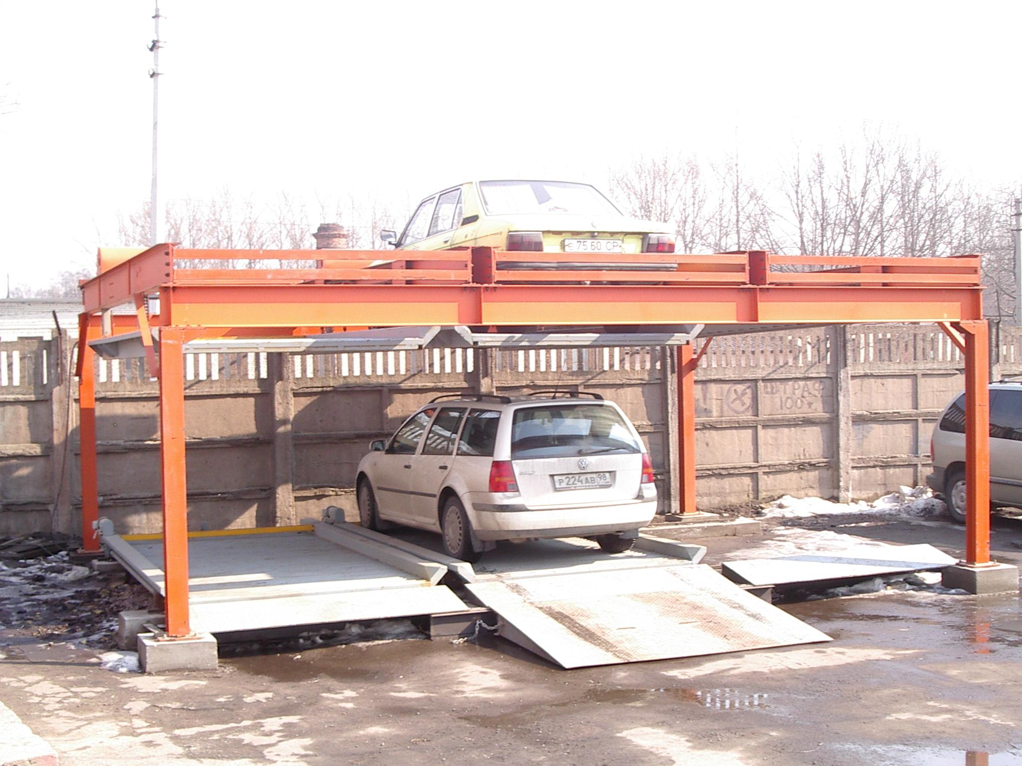 Двухуровневый паркинг модульного типа